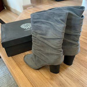 Vince Camuto Gray Suede Boots